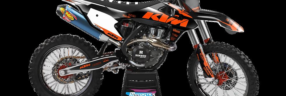KTM EXC XCW SX-XC 2017-2019 BLACK ORANGE CUSTOM GRAPHIC DECAL STICKER KIT