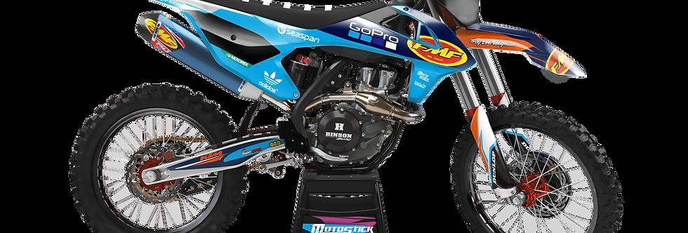 KTM EXC XCW SX-XC 2017-2019 DARK BLUE FMF CUSTOM GRAPHIC DECAL STICKER KIT