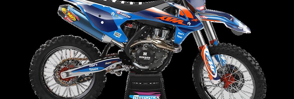 KTM EXC XCW SX-XC 2017-2019 BLUE FMF GRAPHIC DECAL STICKER KIT