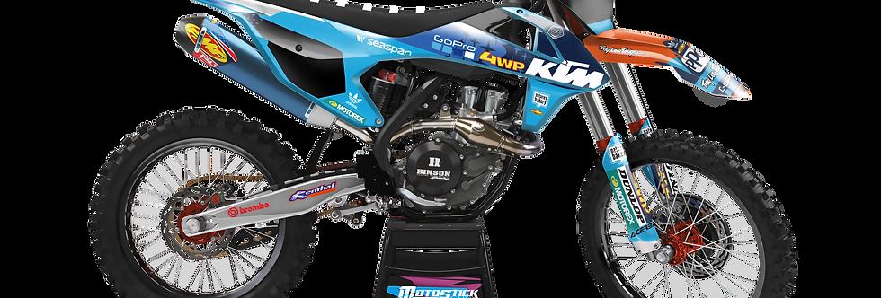 KTM EXC XCW SX-XC 2017-2019 BLUE GOPRO CUSTOM GRAPHIC DECAL STICKER KIT