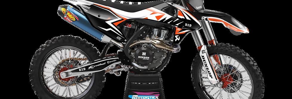 KTM EXC XCW SX-XC 2017-2019 ORANGE WHİTE BLACK GRAPHIC DECAL STICKER KIT