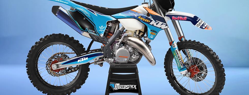 KTM EXC XCW SX-XC 2014-2016  BLUE GOPRO GRAPHIC DECAL STICKER KIT