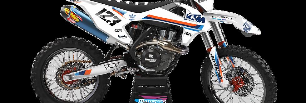 KTM EXC XCW SX-XC 2017-2019 WHİTE CUSTOM GRAPHIC DECAL STICKER KIT