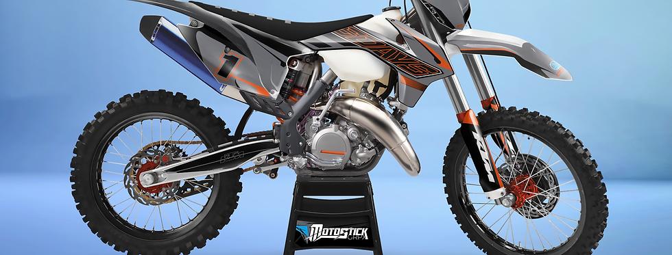 KTM EXC XCW SX-XC 2014-2016  GREY 6DAYS GRAPHIC DECAL STICKER KIT