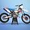 Thumbnail: KTM EXC XCW SX-XC 2014-2016  BLUE 6DAYS GRAPHIC DECAL STICKER KIT