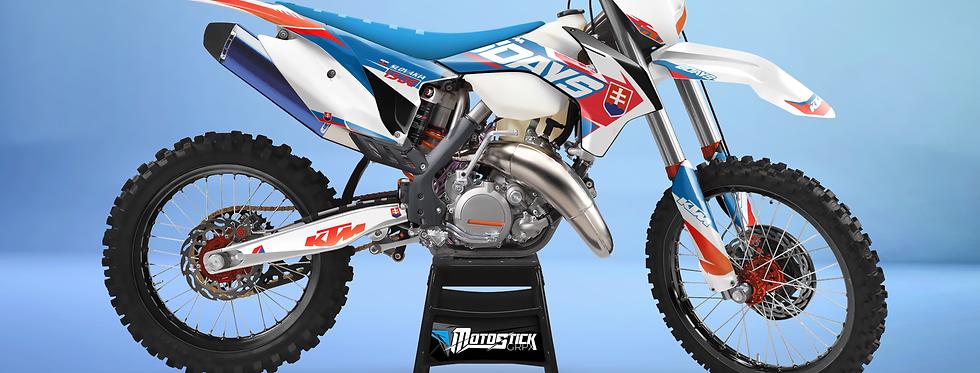 KTM EXC XCW SX-XC 2014-2016  BLUE 6DAYS GRAPHIC DECAL STICKER KIT
