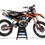 Thumbnail: KTM EXC XCW SX-XC 2017-2019 BLACK ORANGE WP CUSTOM GRAPHIC DECAL STICKER KIT