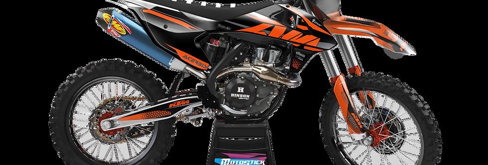 KTM EXC XCW SX-XC 2017-2019 BLACK ORANGE WP CUSTOM GRAPHIC DECAL STICKER KIT