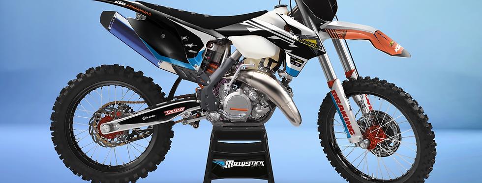 KTM EXC XCW SX-XC 2014-2016  WHİTE BLACK GRAPHIC DECAL STICKER KIT