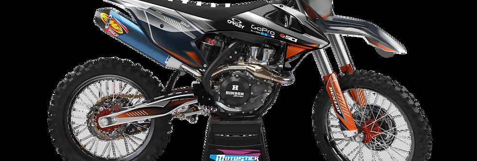 KTM EXC XCW SX-XC 2017-2019 ORANGE GREY GRAPHIC DECAL STICKER KIT