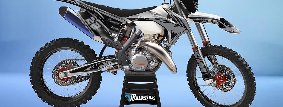 KTM EXC XCW SX-XC 2014-2016  BLACK GREY GRAPHIC DECAL STICKER KIT