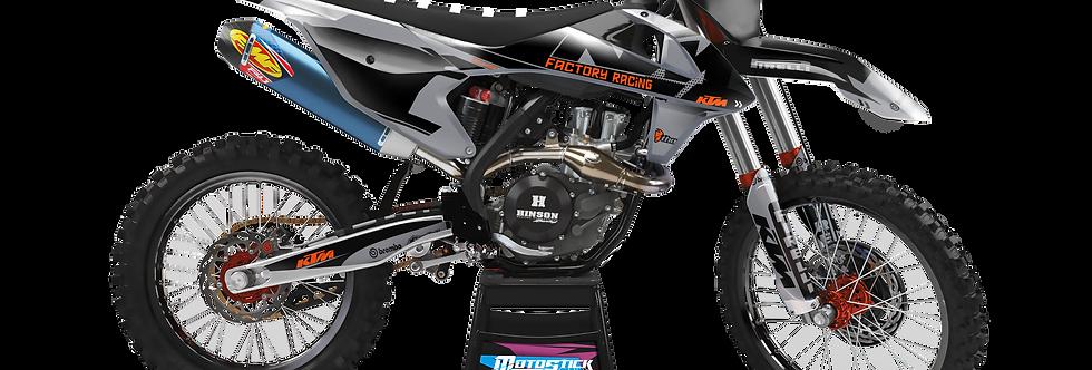 KTM EXC XCW SX-XC 2017-2019 GREY BLACK GRAPHIC DECAL STICKER KIT