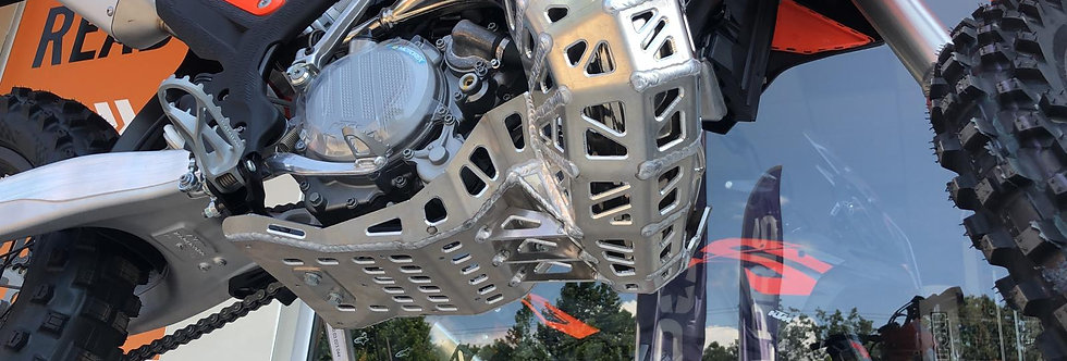 Husqvarna and Ktm Exc / TE 150 and Bash Plate With Pipe Guard  150 2020-2022