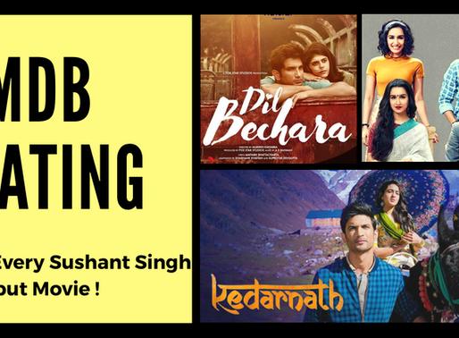 IMDb Ratings of Every Sushant Singh Rajput Movie Covered !