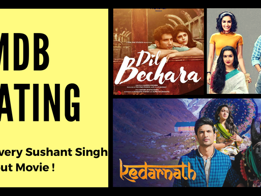 IMDb Ratings of Every Sushant Singh Rajput Movie Covered !