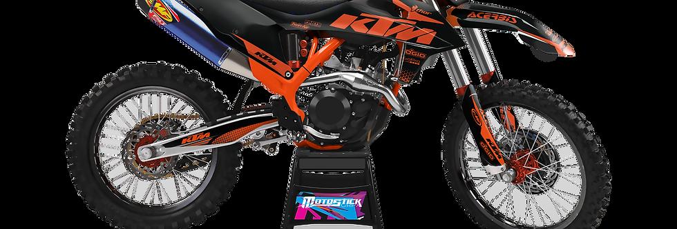KTM EXC XCW SX-XC 2020-2022 GRAPHIC DECAL STICKER KIT ORANGE