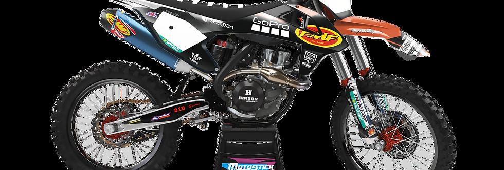 KTM EXC XCW SX-XC 2017-2019 BLACK FMF GRAPHIC DECAL STICKER KIT