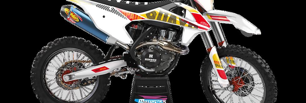 KTM EXC XCW SX-XC 2017-2019 SPAIN YELLOW 6DAYS GRAPHIC DECAL STICKER KIT