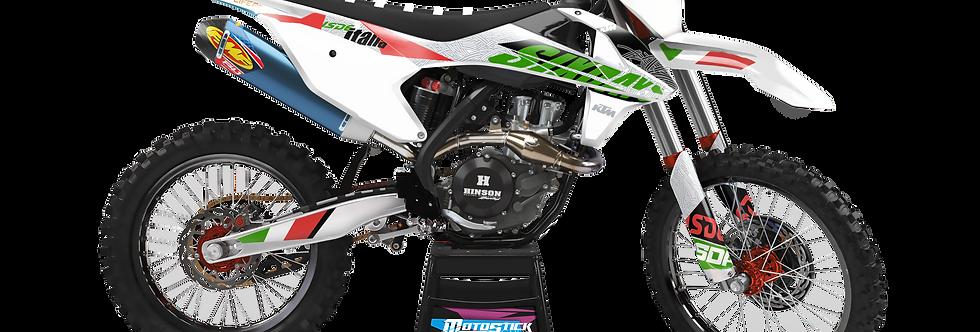KTM EXC XCW SX-XC 2017-2019 GREEN İTALY CUSTOM GRAPHIC DECAL STICKER KIT