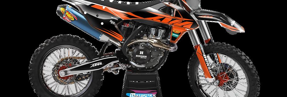 KTM EXC XCW SX-XC 2017-2019 ORANGE CUSTOM GRAPHIC DECAL STICKER KIT
