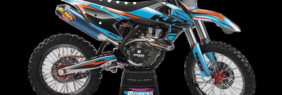 KTM EXC XCW SX-XC 2017-2019 BLUECUSTOM GRAPHIC DECAL STICKER KIT