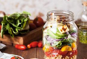 Salat in einem Glas