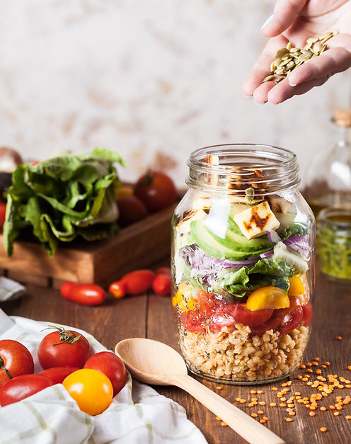 Salat i en Jar