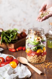 Superfood Salad in a Jar