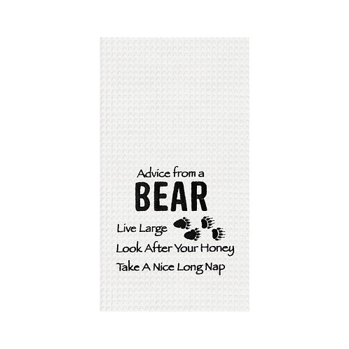 Advice From A Bear Kitchen Towel