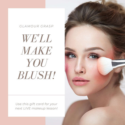 Glamour Grasp Gift Card Online Makeup Lesson Makeup Tutorial