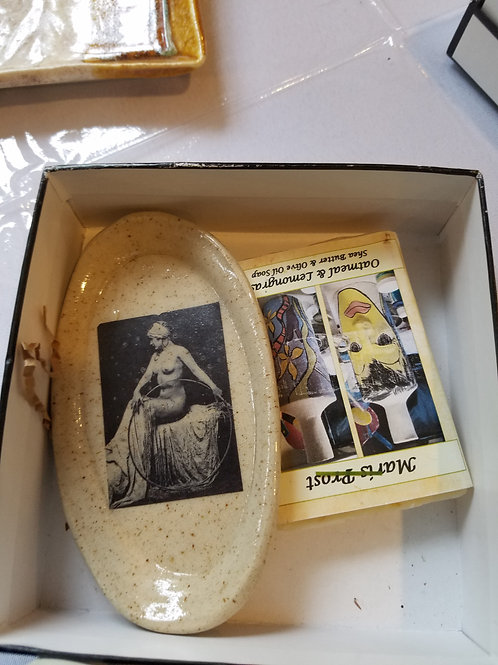 Nude Soap Dish and enclosed Soap     $18.00