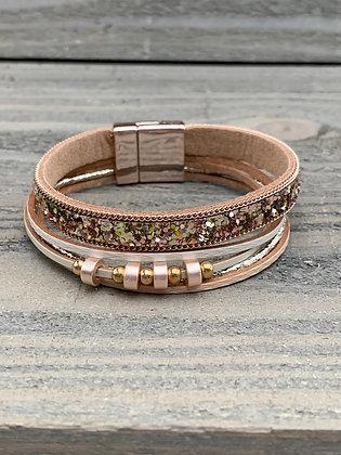Rose Gold Glitter Magnetic Bracelet