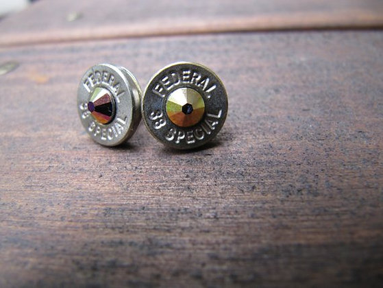 Bullet Earrings - 38 Special Rainbow Helio