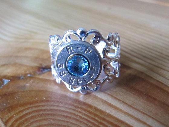 Bullet Ring-38 Special Aquamarine Crystal