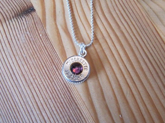 38 Special Bullet Necklace with Purple Swarovski