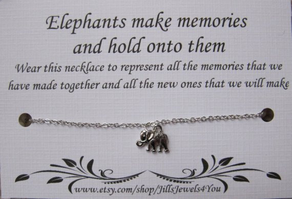 Elephant Memory Necklace