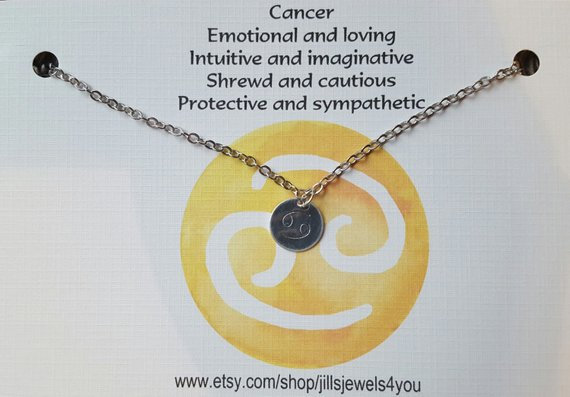 Zodiac Astrology Necklace-Cancer