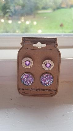 Druzy and Bullet Earrings-38 Special Kaleidoscope