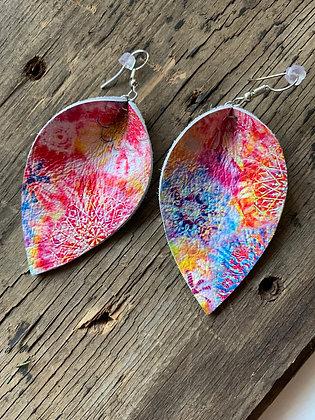 Tie Dye Rainbow Earrings