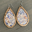 Thumbnail: Pastel Pebble Cork and Wood Teardrop Earrings