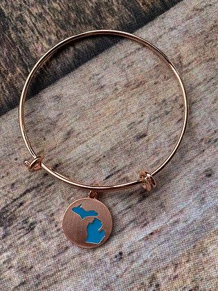 Copper Michigan Bracelet