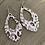 Thumbnail: Grey and Brown Leopard Cork Teardrop Earring