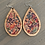 Thumbnail: Colorful Floral Cork and Wood Teardrop Earrings