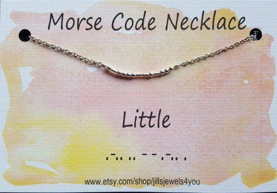 Morse Code Necklace- Little