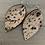 Thumbnail: Leopard acid wash hair on leather earrings