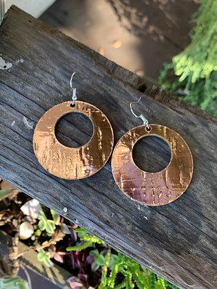 Rose Gold Cork Hoop Earring