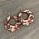 Thumbnail: Red Floral Cork Hoop Earring