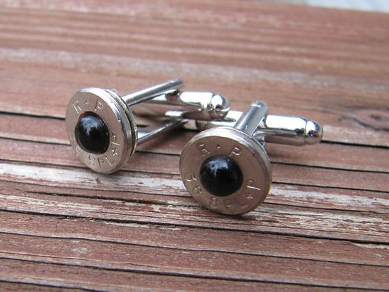 Bullet Cuff Links- 38 Special Black Pearl