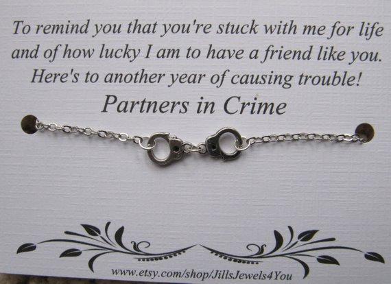 Let's Cause Trouble Friendship Bracelet