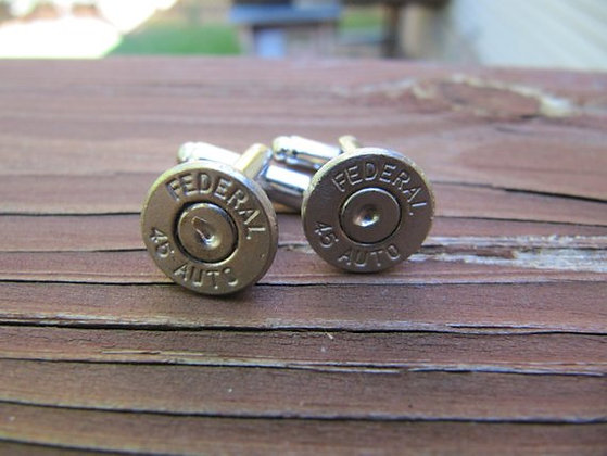 Bullet Cuff Links- 45 Auto